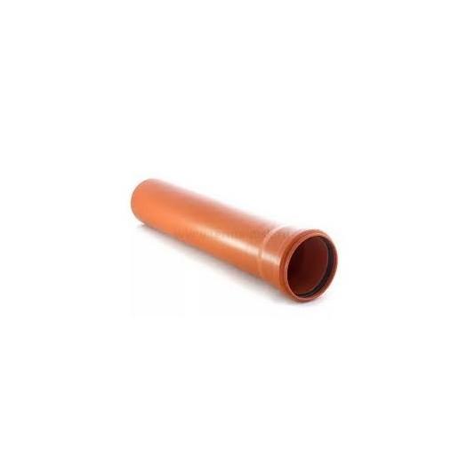 Труба канализационная инсталпласт ПВХ 110х1000мм