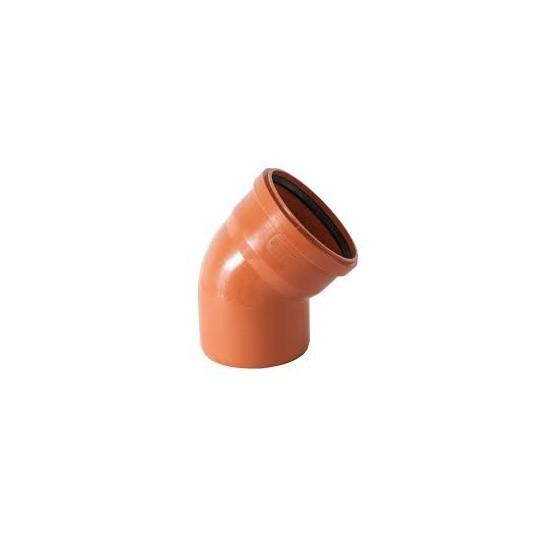 Колено канализационное Инсталпласт 110 мм 45° внешнее
