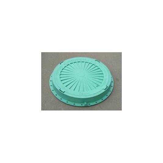 Люк канализационный полимерный 1,5т зеленый