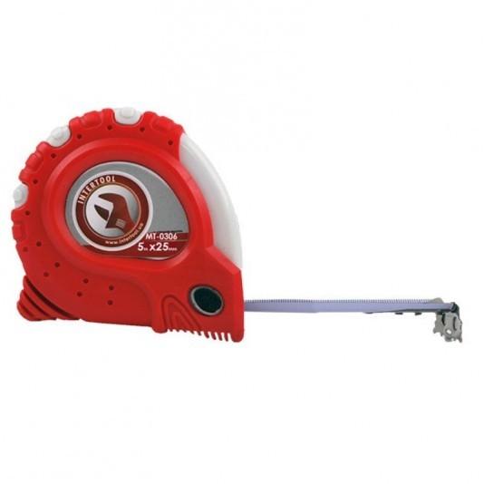 Рулетка с фиксатором INTERTOOL 5м х 25мм
