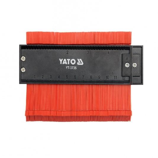Шаблон сегментный YATO пластик 125 мм х 44 мм