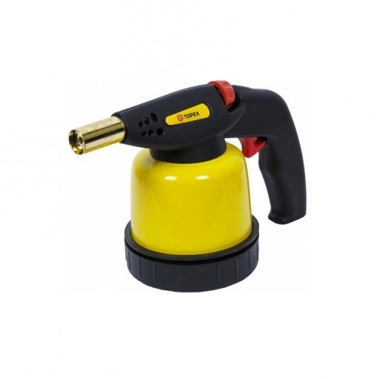 Лампа паяльная газовый бачок 190г TOPEX с пьезоподжигом