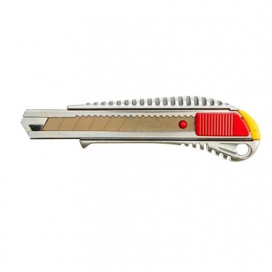 Нож с выдвижным лезвием 18 мм TOPEX