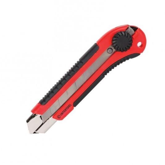 Нож с выдвижным лезвием 25 мм INTERTOOL