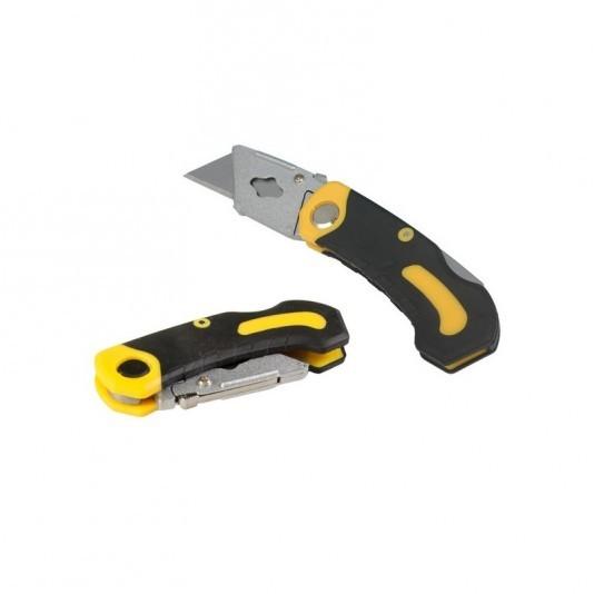 Нож с трапециевидным лезвием складной 19 мм MASTERTOOL