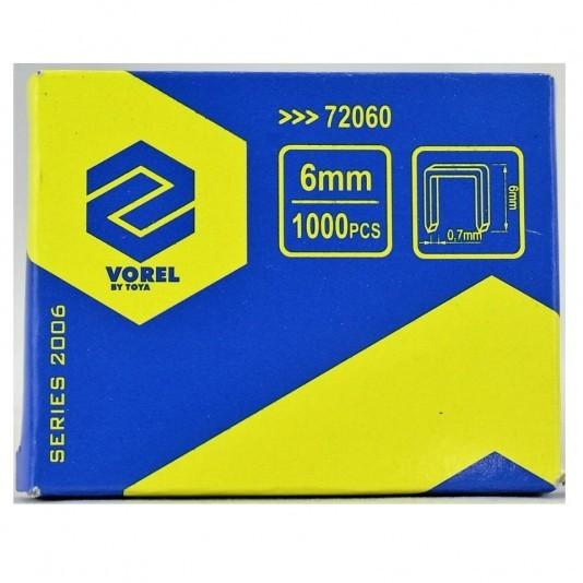 Скобы для степлера VOREL 6 мм