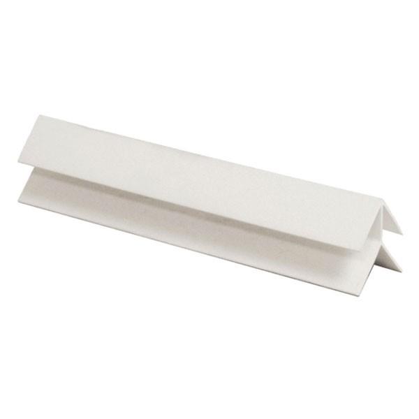 Угол наружный ПВХ белый 6м
