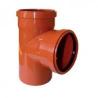 Тройник канализационная инсталпласт 110х110-90*