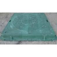 Люк канализационный полимерный 710х710 зеленый/замок